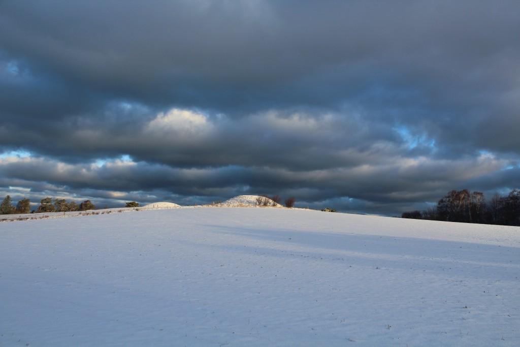Seven Highs (Syv Høje) - seven burial mounds in melby. North Sealand, Denmark