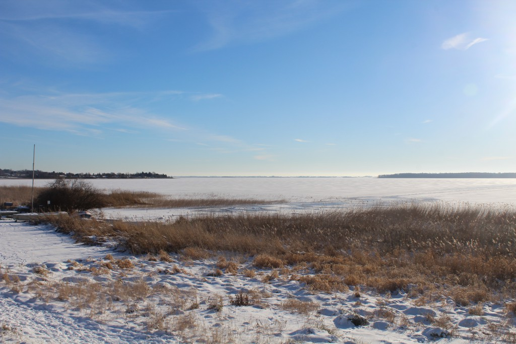 Arre-Lake (Arresø). View in direction sout to Arrenaes. Photo about 2 PM the 21. january 2016 by Erik K Abrahamsen.