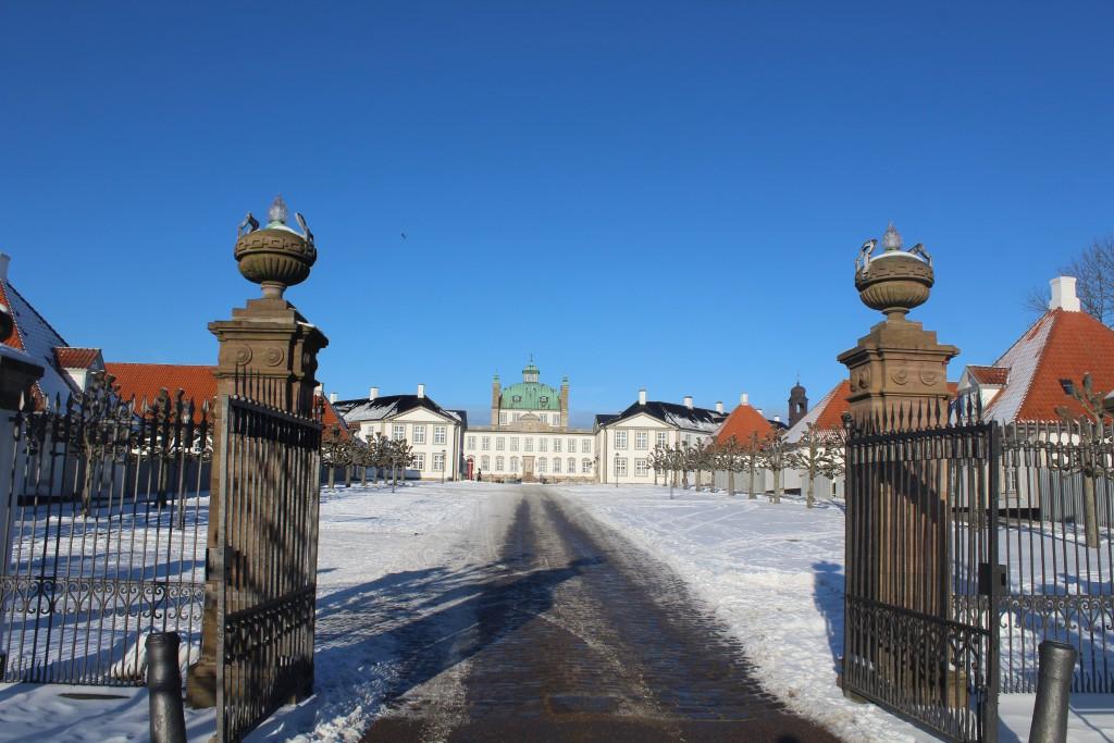 Entrance to Fredensborg Castle. P