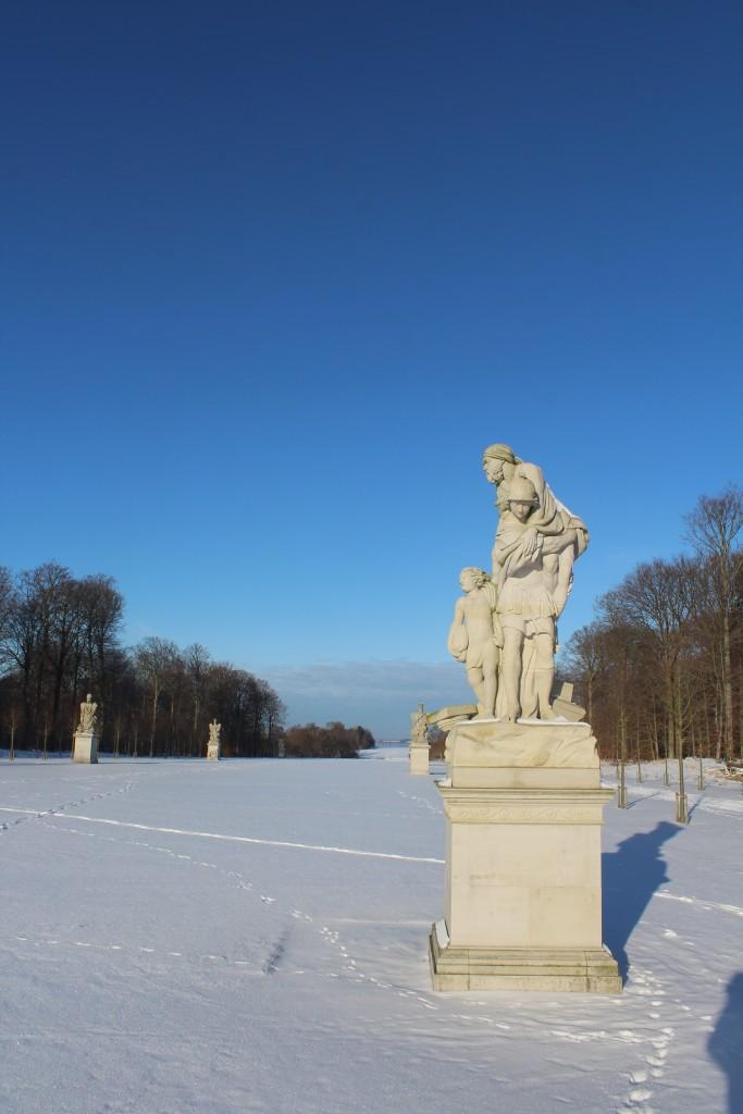 Brede Allé in Fredensborg Castle Baroque Garden. Photo 22. january 2016 by erik K Abrahamsen.