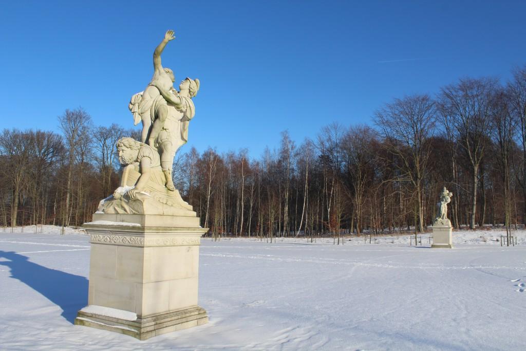 """Brede Allé"" in Fredensborg Castle Baroque Garden. Sculptures by Wiedewelt 1760-70. Photo 22. january 2016 by Erik K Abrahamsen."