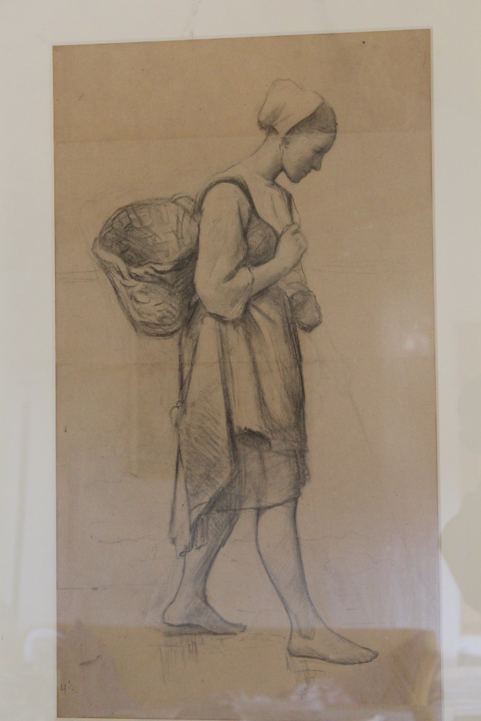 Drawing 75 x 43 cm by Laurits Tuxen