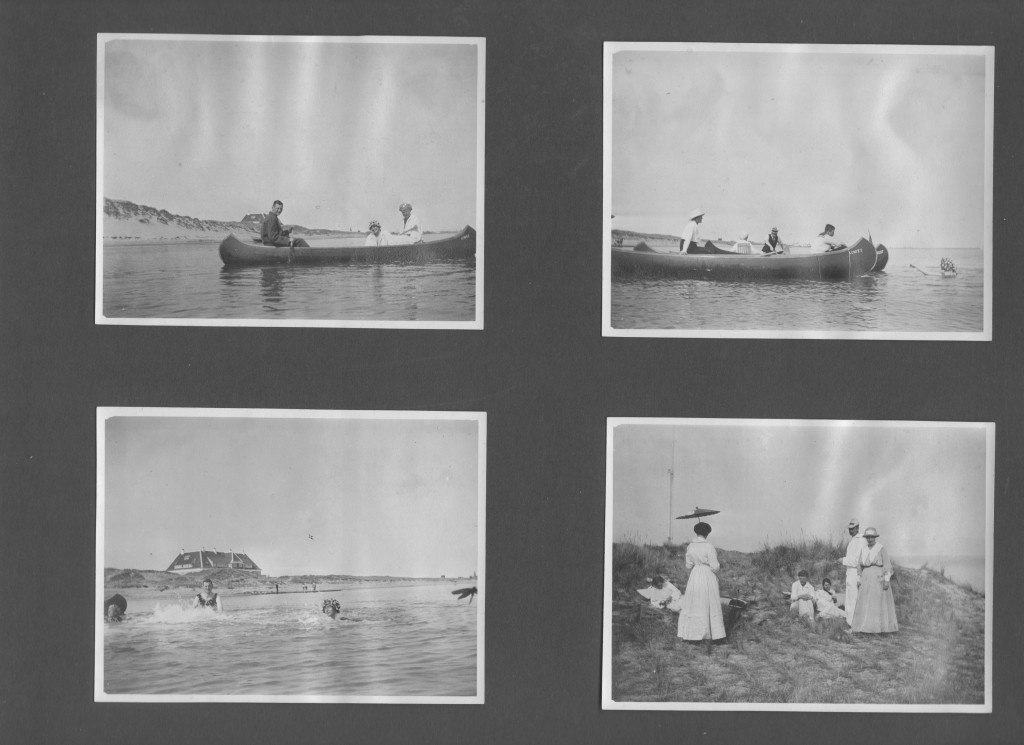 """The Royal Danish Familie at Kattegat Sea near their royal summer residence """"Klitgaarden"""", Skagen . Phot by Lasurits Tusen. Fotos from Laurits Tuxen private photo album. Scanned february 2016."""