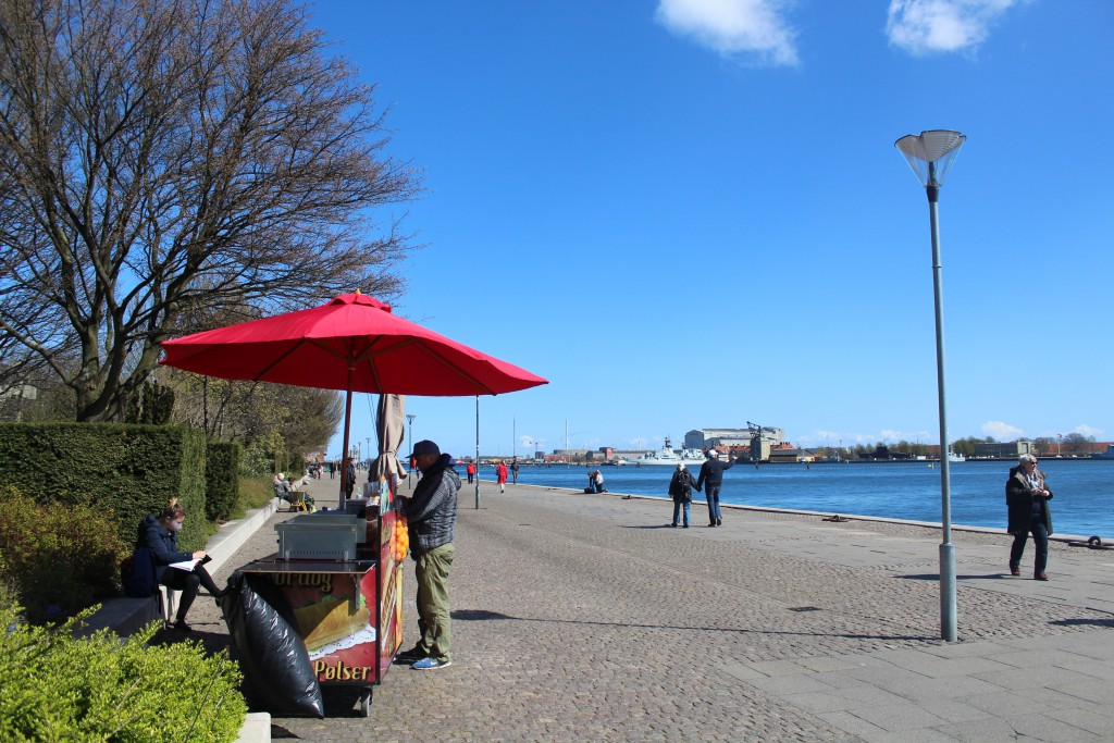 Copenhage Inner Harbour at Amalie Garden as neighbor to Amalienborg Cas