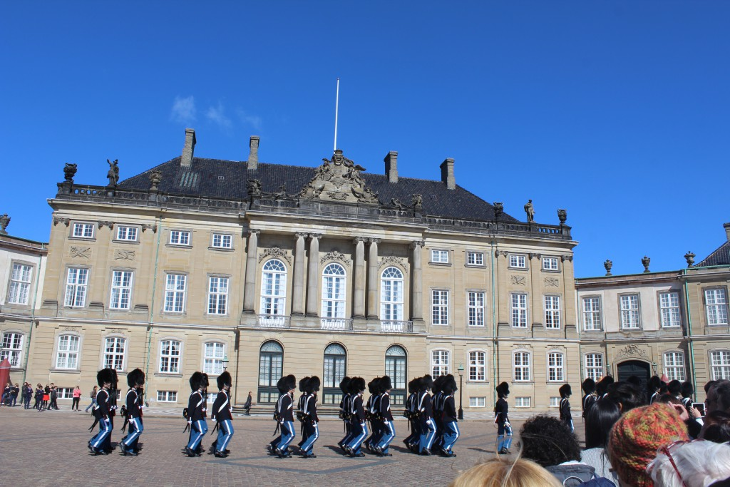 The Queens Royal Guard on Amalienborg Square