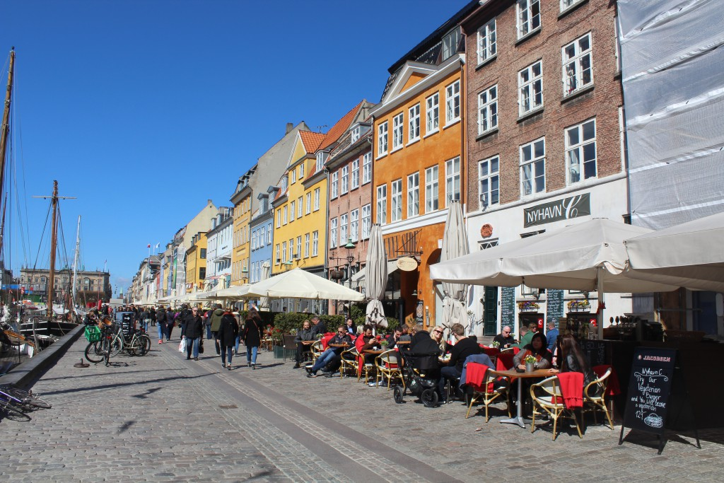 "Nyhavn - ""the sunny side"". Photo 20. april 2016 by Erik K Abrahamsen."