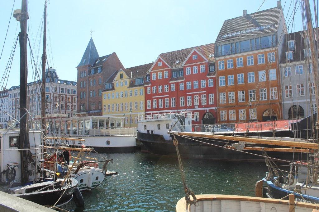 Nyhavn - view in direction to west side of New Harbour. Photo 20. april 2016