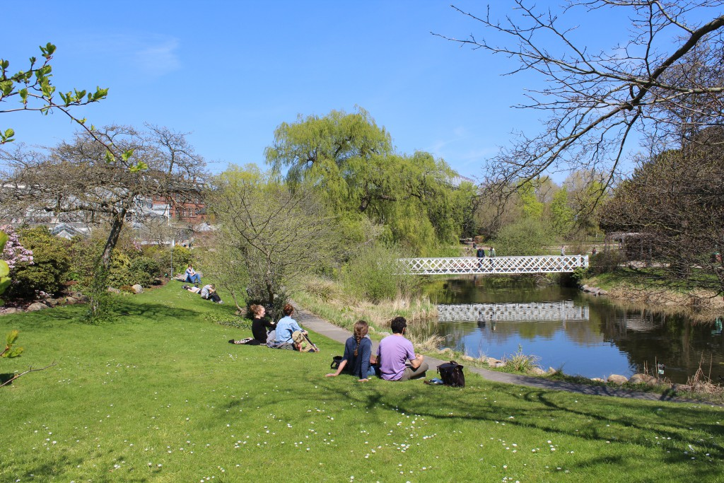 Botanical Garden. Photo in direct west 2. may 2016 by Erik K Abrahamsen.