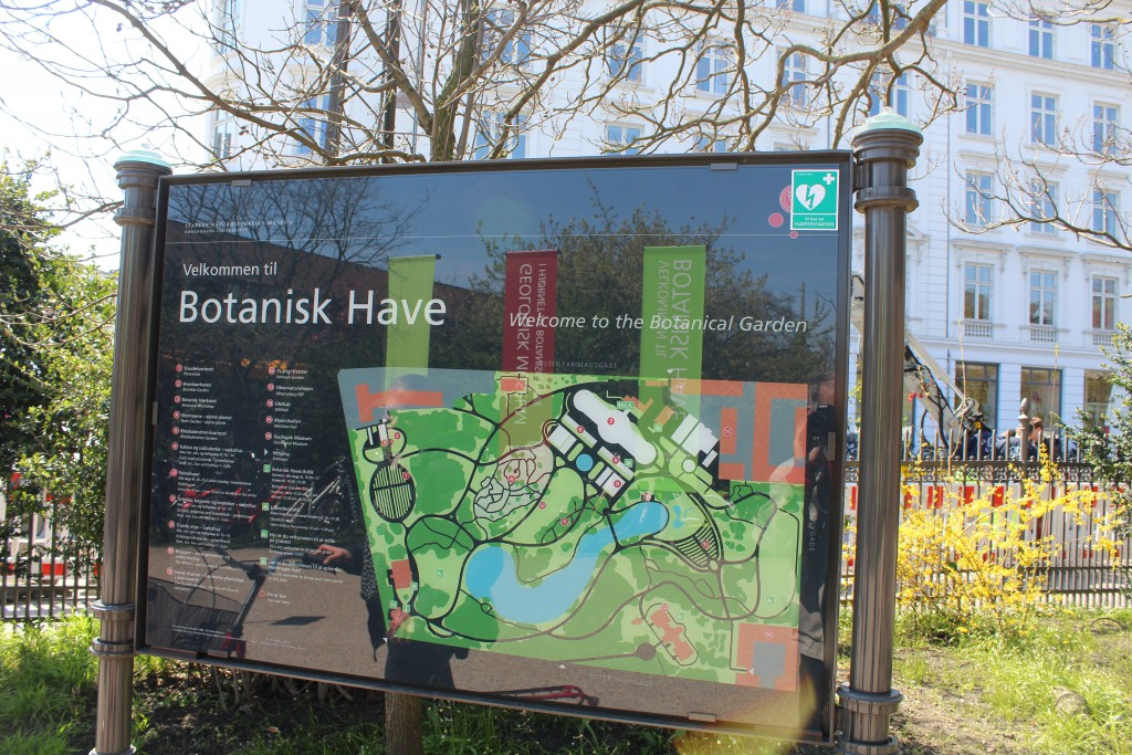 Map of Botanical Garden in Copenhagen. Photo 2. may 2016 by Erik K Abrahamsen.