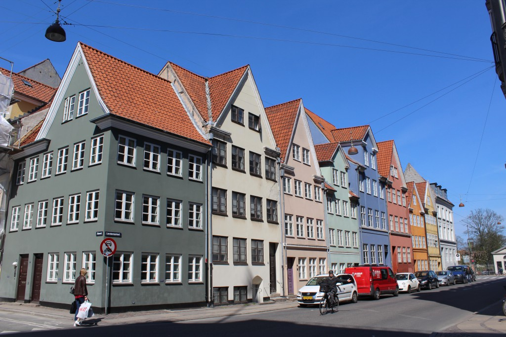 Landemærker with 5 houses builded after the Bombardement of Copenhagen