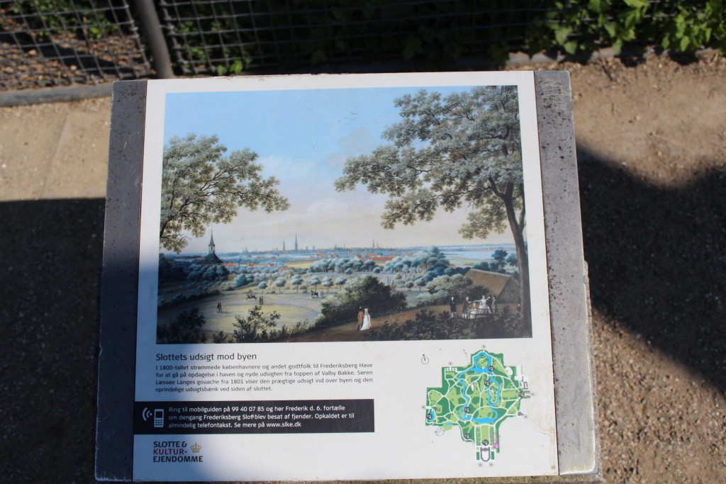 Plate with view from Frederiksberg Castle and Valby Hill in di