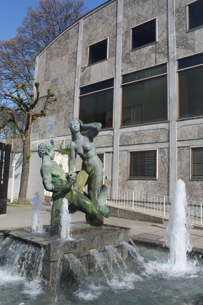 "Fountain in front of Aarhus Town Hall with Scupltor ""Agneter go Havmanden"" by Sculptor Johannes C. Bjerg. Php"