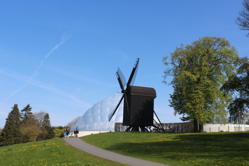 Wind Mill constructed of Wood. Old City Museum - Den Gamle By