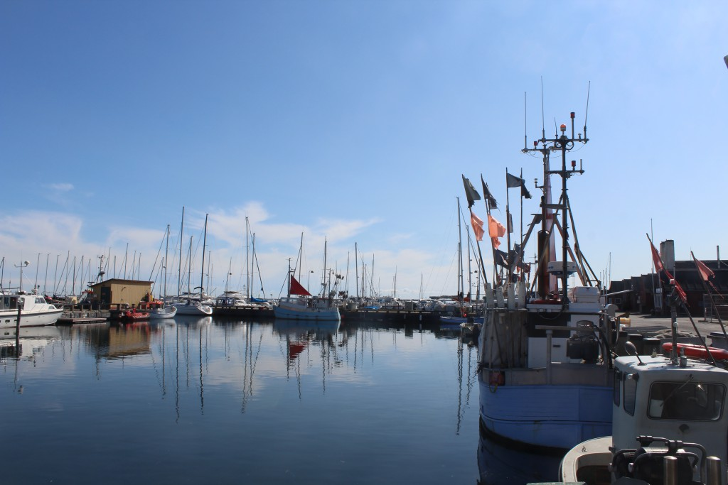 DRagoer Harbour. View to direction east to fishing boats and