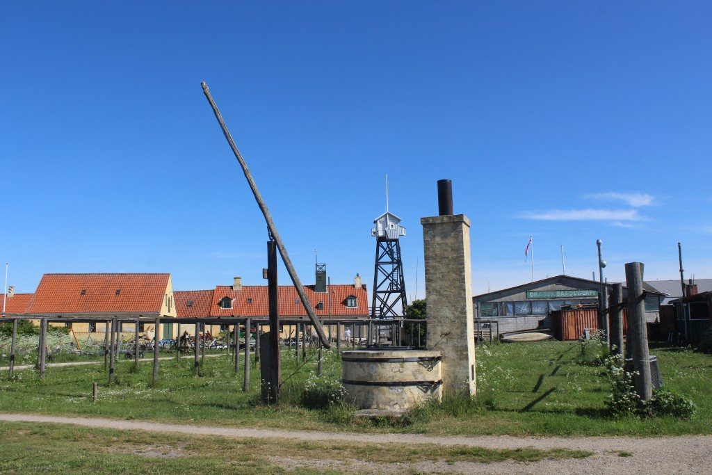 The Stake Area with Shipyard and Pilaot Tower on Dragoer Harbour: Photo 27. may 2016 by erik K Abrahamsen.
