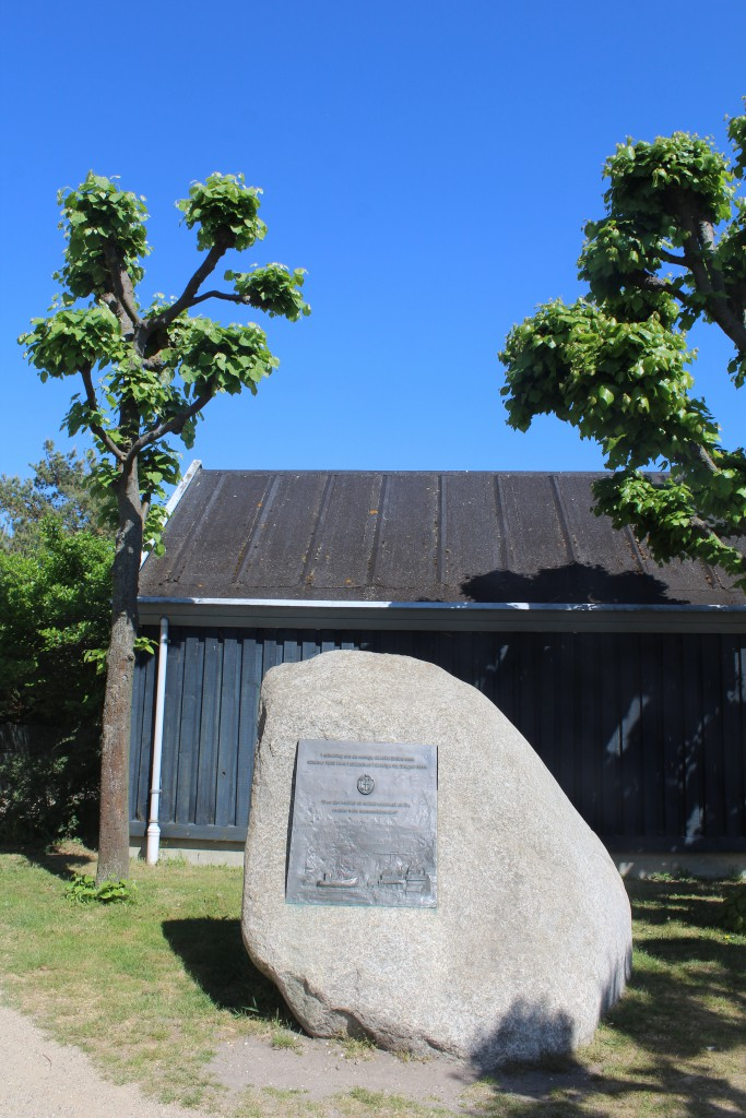 Morial Stone of the rescue of 6-7oo danish jews with fishing boats from Dragoer Harbour to freedom in Sweden octo