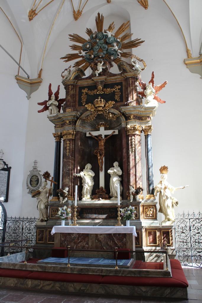 Trinitatis Church builded 1635-50, Copenhagen, Denmark. Jesus Christ on the Cross of Calvary.Photo 2014 by Erik K Abrahamsen