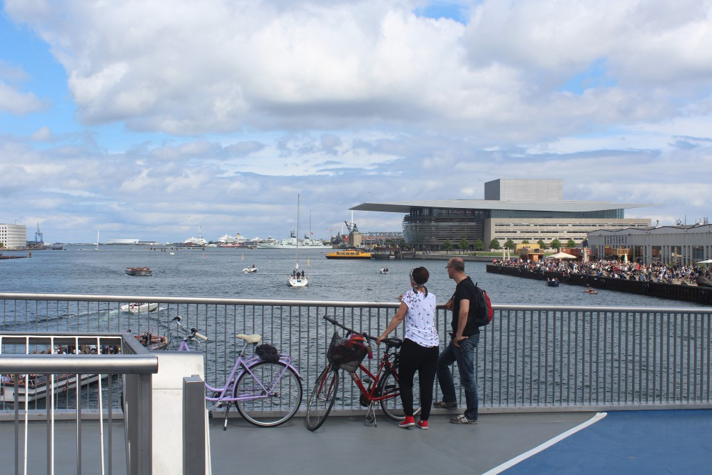 View from top of Inderhavnsbroen in direction east to Copenhagen Inner Harbour