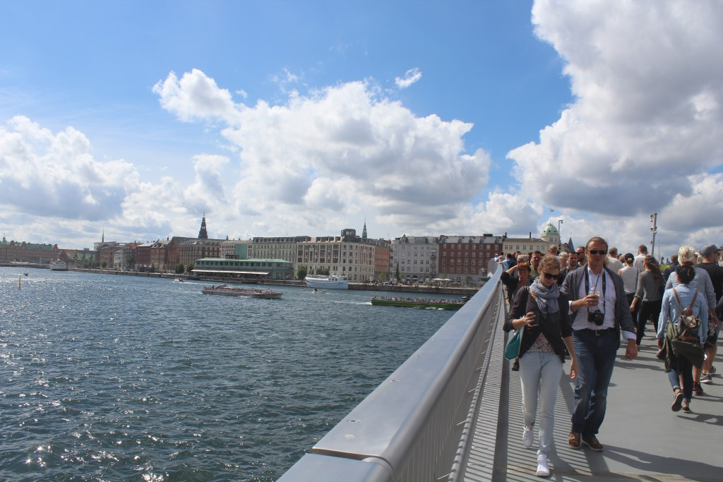 View from top of Inderhavnsbroen ib direction west to Copenhage Inner Harbour. Pho 9. july 201