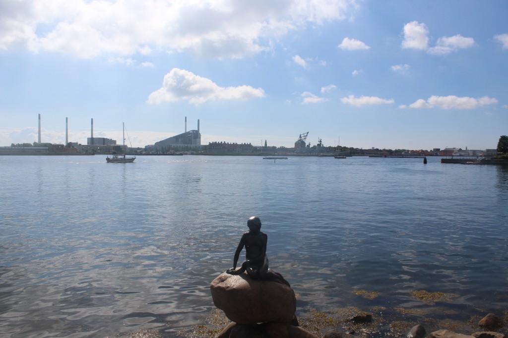 Copenhagen Inner Harbour - The Little mermaid by sculptor