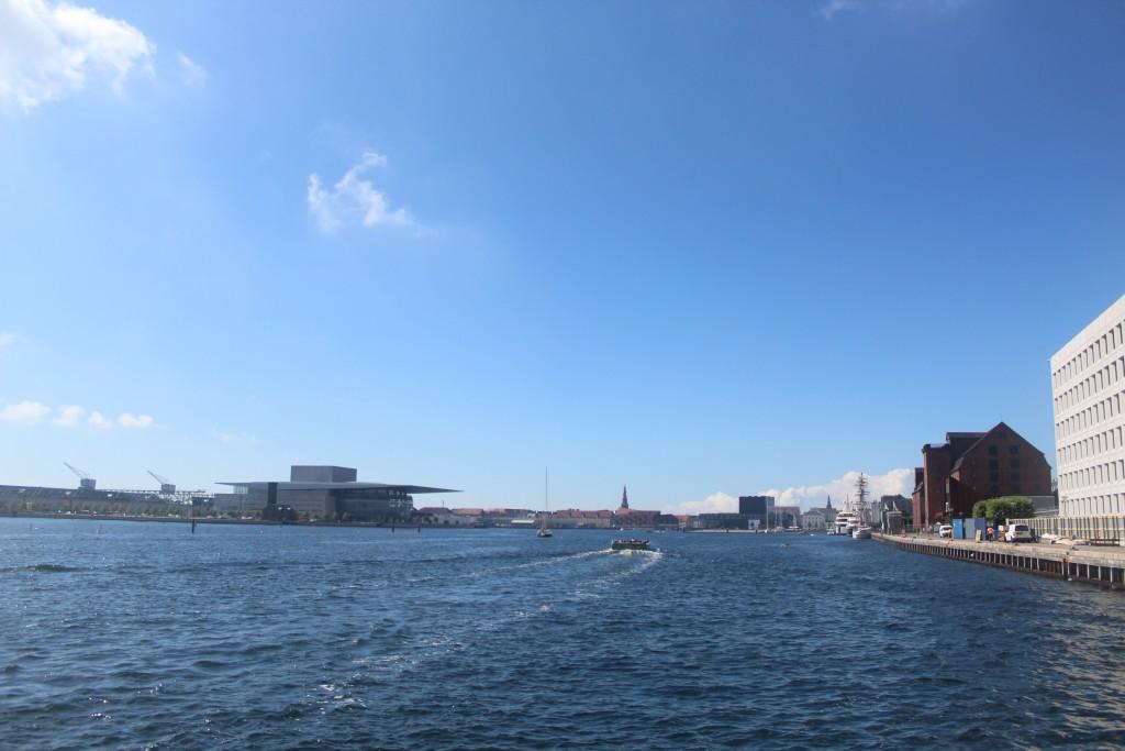 Copenhagen Inner Harbour. View in direction west to Copenhagen O