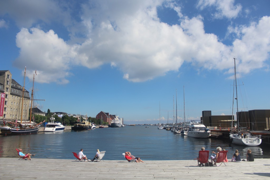 View from Ofelia Place at Quay Kvæsthusbroen: