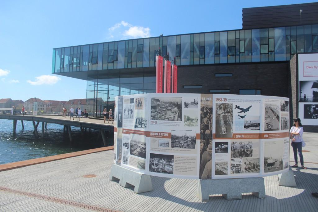 Plates of history of Quay Kvæsthusbroen and Ofelia Place. Photo 2o. july 2016