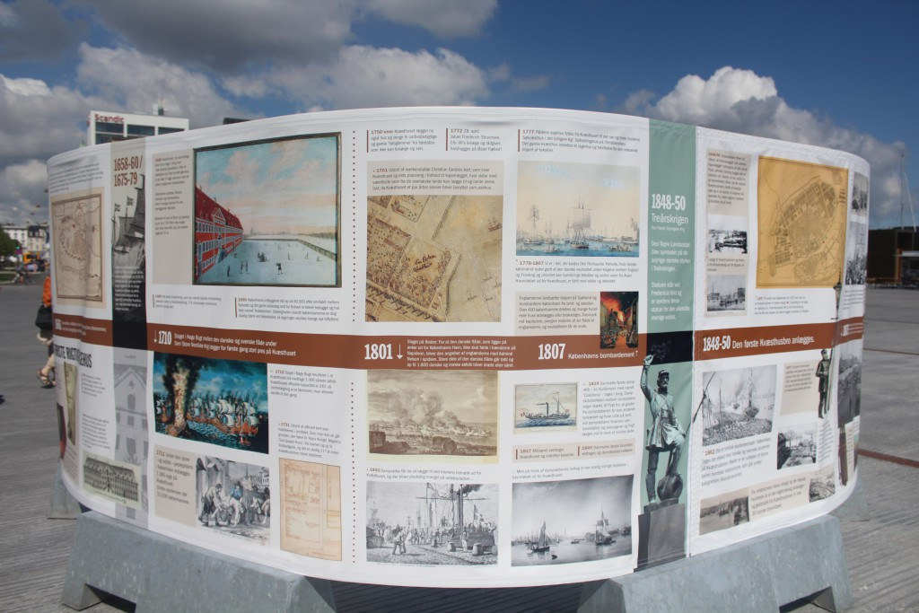 Plates of the history of Quay Kvæsthusbroen and Ofelia Place 1600-2016. Photo 2o july 2016 by Erik K Abrahamsen.