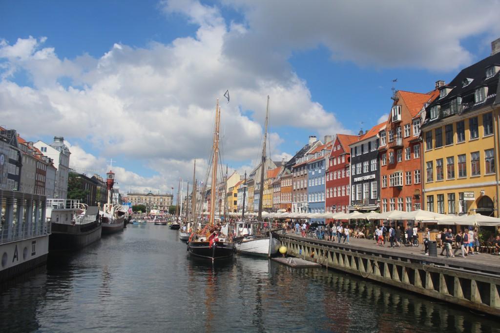 Nyhavn - a 400 meter long canal built 1671-73 from Copenhagen Inner Harbout til mani central place Kongens Nytorv. Photo
