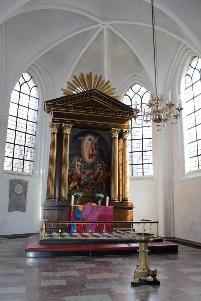 Sct Petri Kirke bygget ca. 1400. Altertave. Jesus Himmelfart. Foto 20