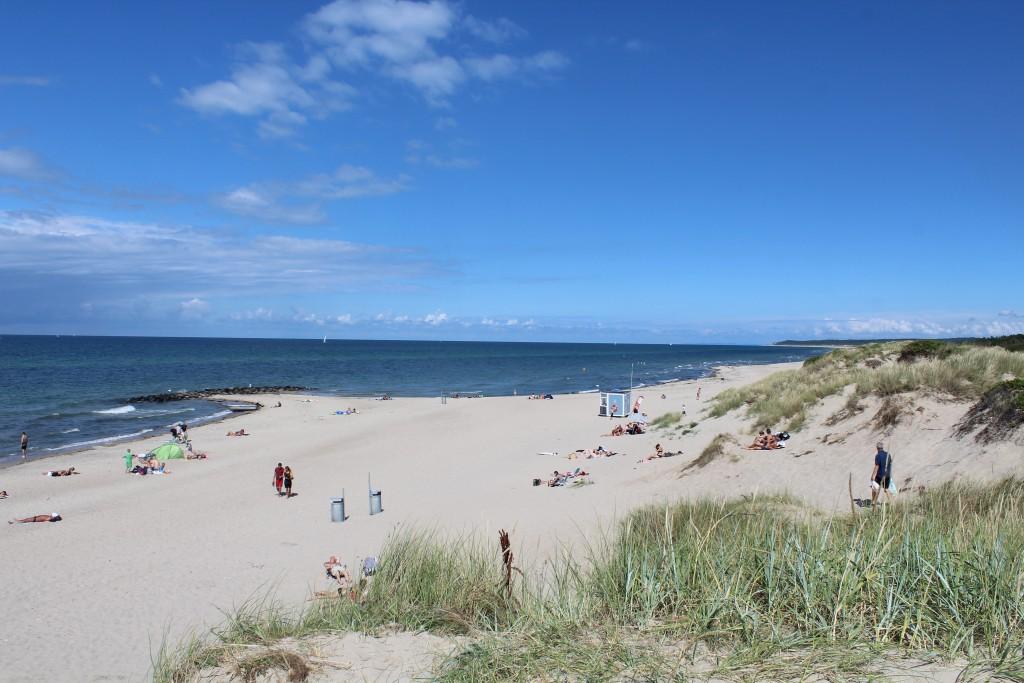 Liseleje Beach. Kattegat ea, North Sealand, Denmark. Photo in direction east to Tisvilde Hegn and Tisvildeleje Besach in the distance. july 2016 by Erik K Abrahamsen.