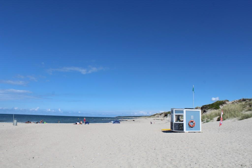 Liseleje Beach at Kattegat Sea. Phoot in direction east to Tisvilde Hegn and Tisvildleej Beach july 2016 by Erik K Abrahamsen.