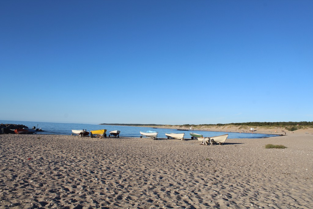 Liseleje Beach at Kattegat Coast. Phoot in direction east 27. july at 8 PM