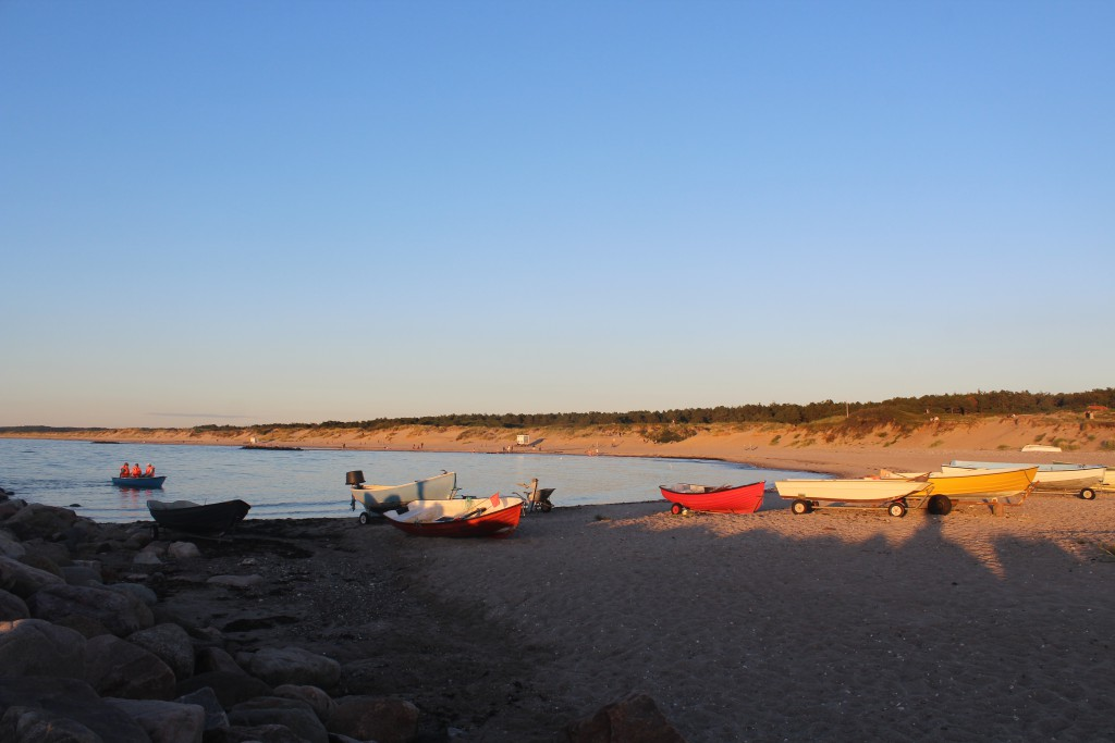 "9.05 PM 2. august 2016 on Liseleje Beach. View from ""Pynten"" in direction east to Tisvilde Hegn. Photo by Erik K Abrahamsen."