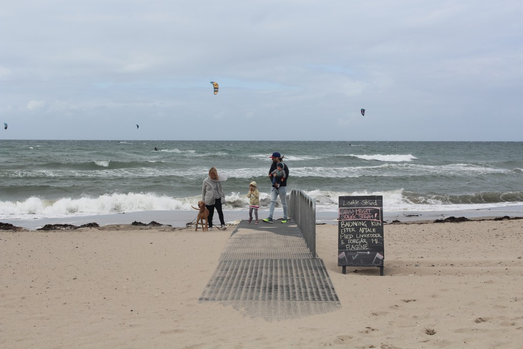 Liseleje Beach. View from Dissabe Bridge to Kattegat Sea. P