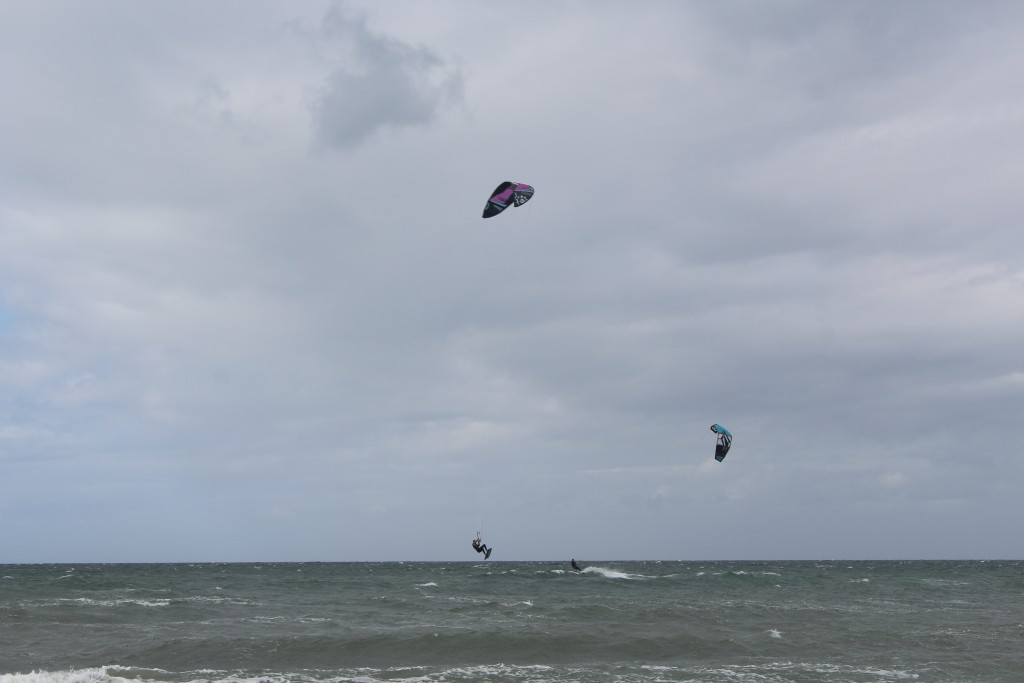 Liseleje Beach. A kitesurfer from Holland in the air. Photo 8. augu