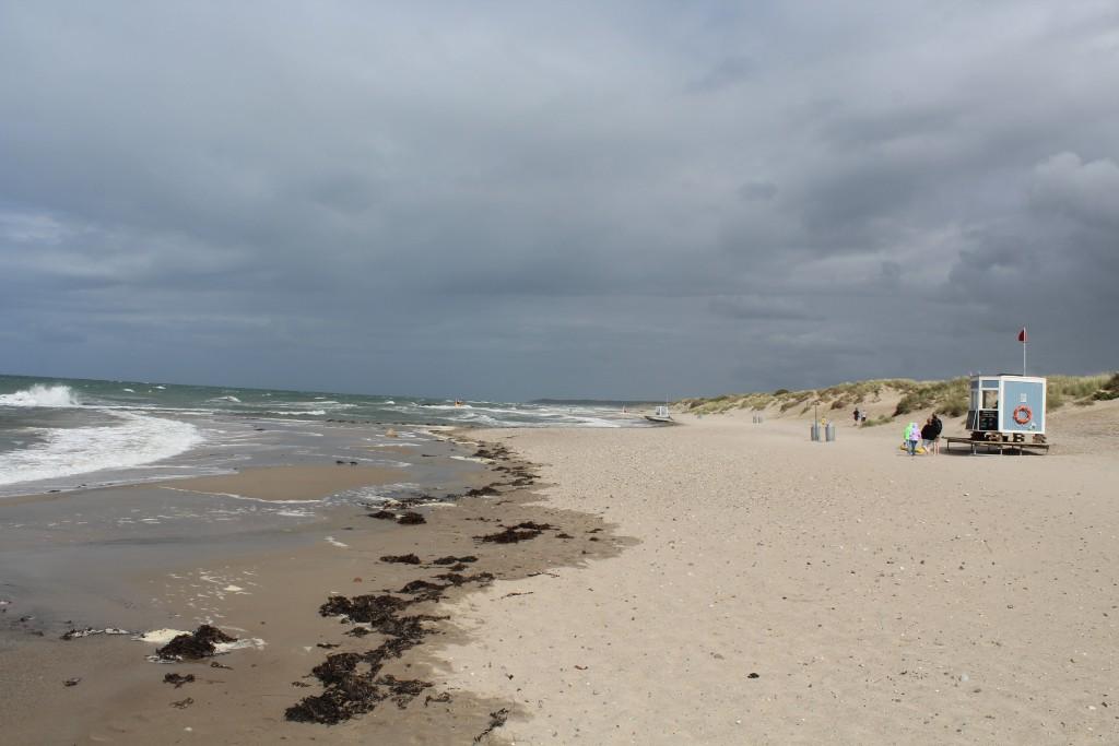 Liseleje each at Kattegat Sea. View in direction east to Tisvilde Hegn, Tis