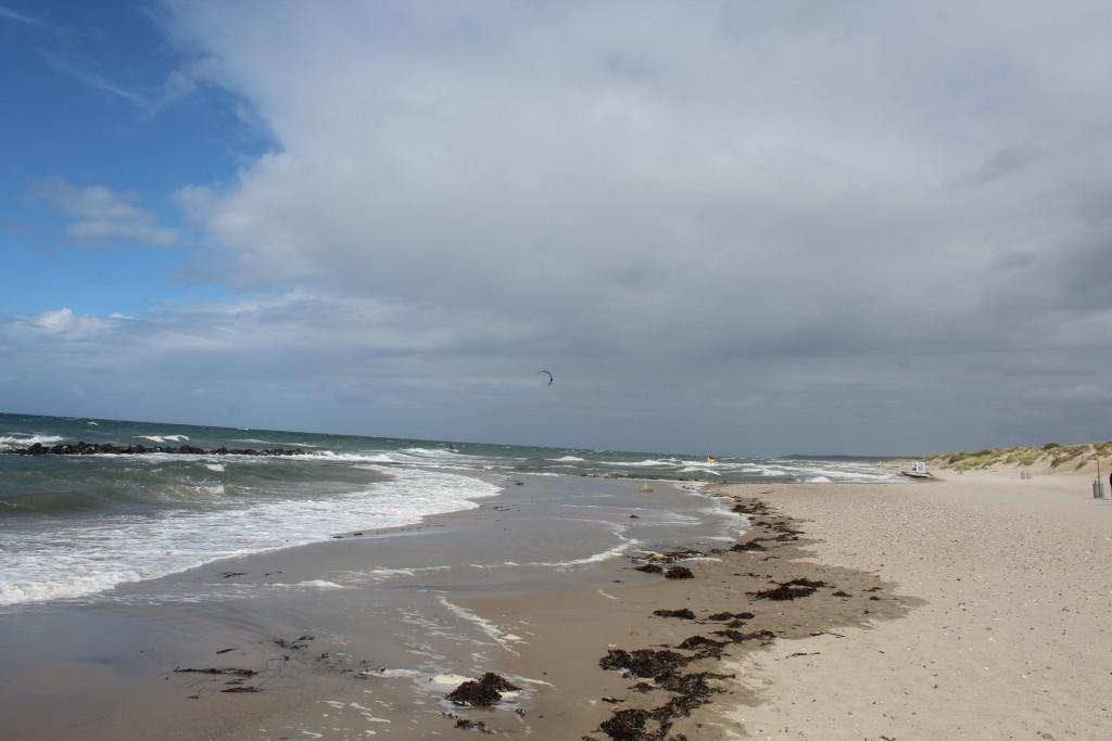 Liseleje Beach, North Sealand, Denmark. Phoot in direction east to tisvilde hegn, Tisvildeleje and cliff Kull