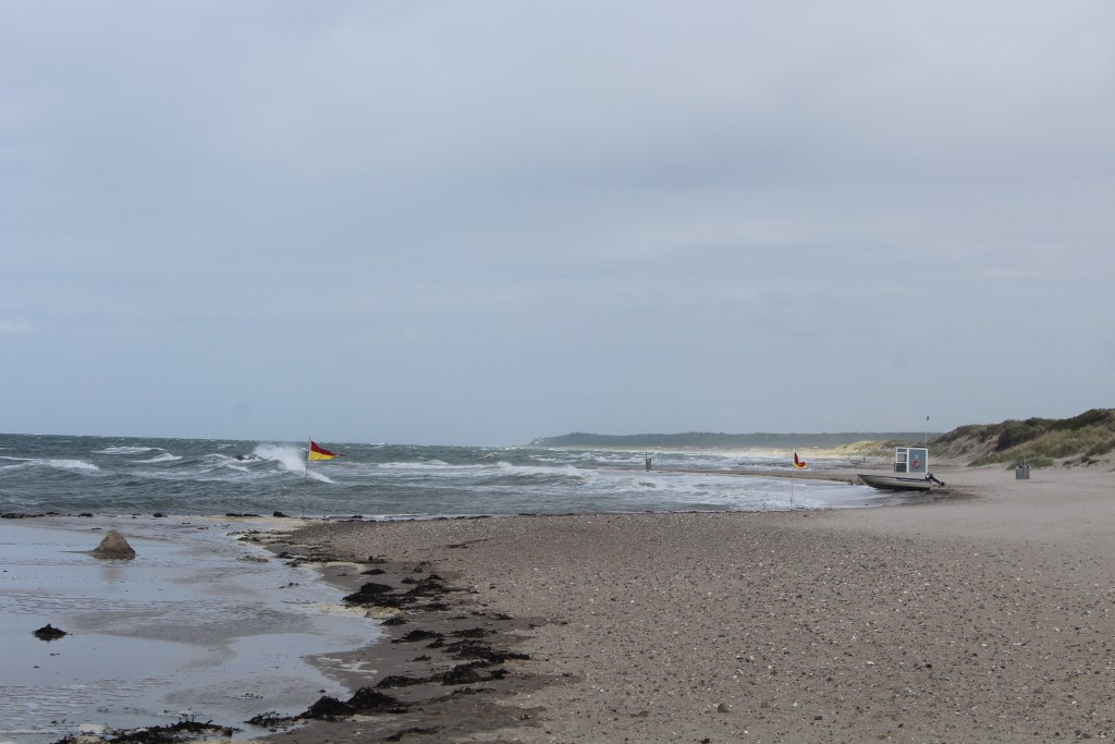 Liseleje Beach at Kattegat Sea. View in direction east to Tisvilde hegn and T