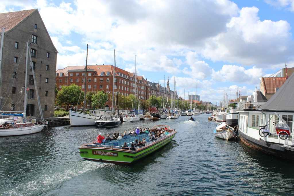 View from bridge Trangravsbroen in direction west to Christianshavn Canal.