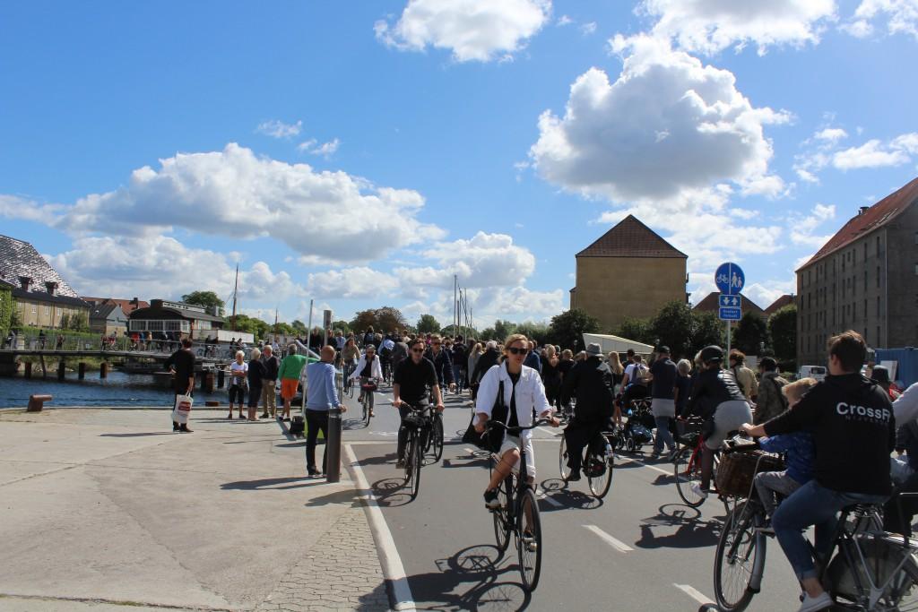 """bike- run and walk bridge """"Trangravsbroen"""