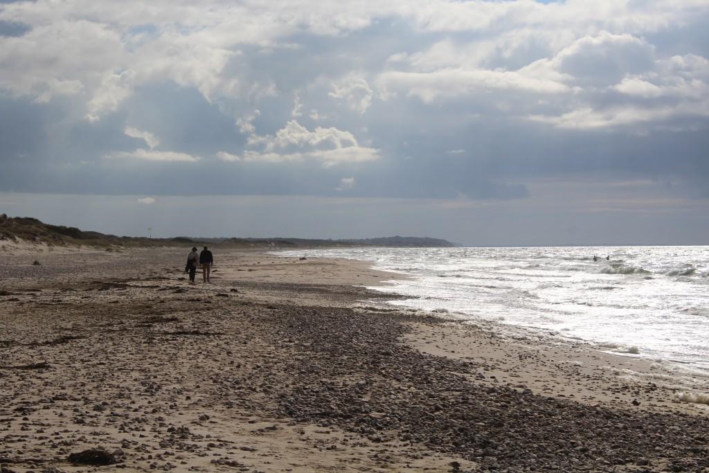 Staengehus beach at Tisvilde hegn. Phoot in direction west to Kattegat Sea and Li