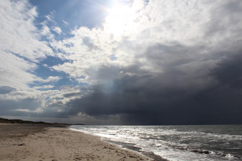Tisvilde hegn at Kattegat Coast. Staengehus Beach. Phoot in direction