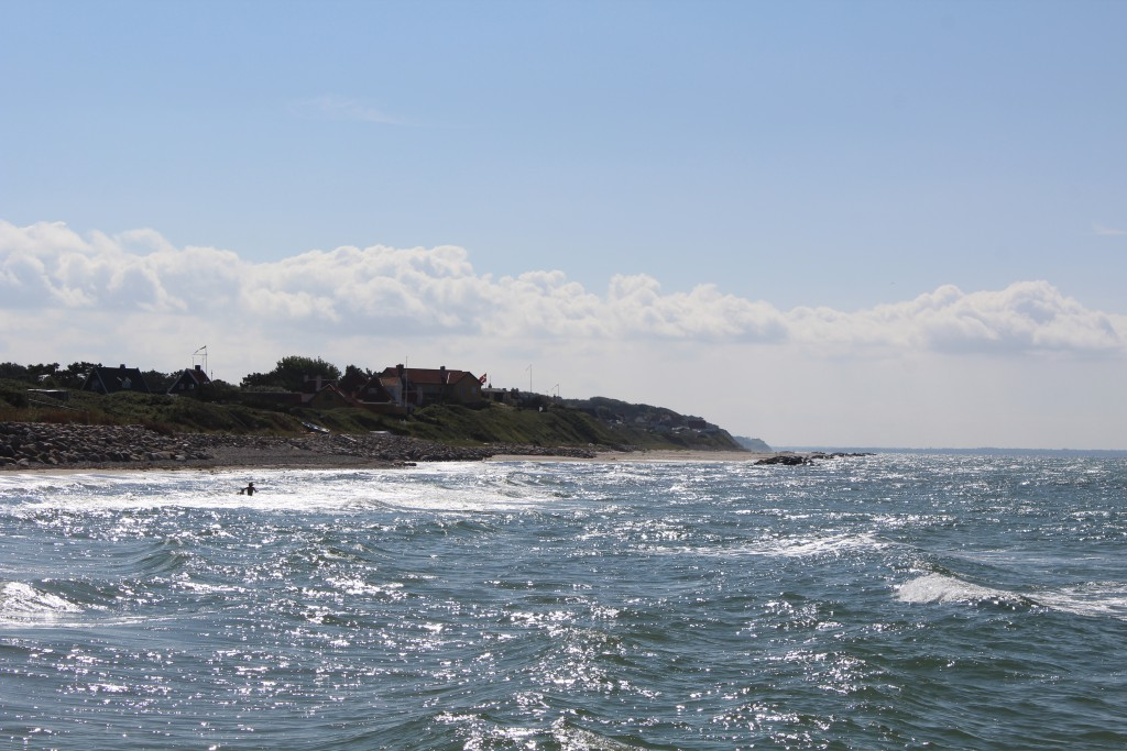 Liseleje Beach. View in direction west to liseleje 3.30