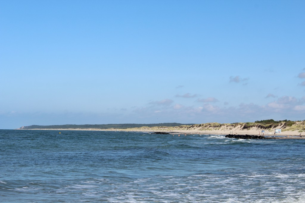 Liseleje Beach. View in direction east to Tisvilde Hegn with Staengehus Beach,