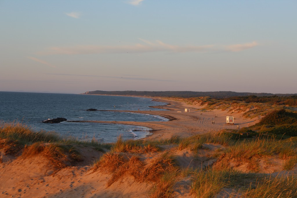 Liseleje beach. View in direction east to Tisvilde hegn and Tisvildeleje in horizon. Photo 8.30 PM 15. august 2016 by Er