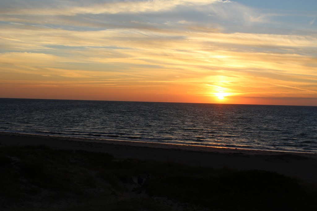 Sunset Liseleje beach. Phoot in direction north/west to kattegat Sea 8.40 PM 15. august