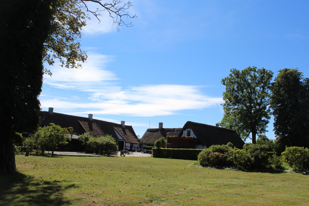 Lodsoldermandsgaarden, View from the garden in direction south to courtyard. Photo 17. august 2016 by e