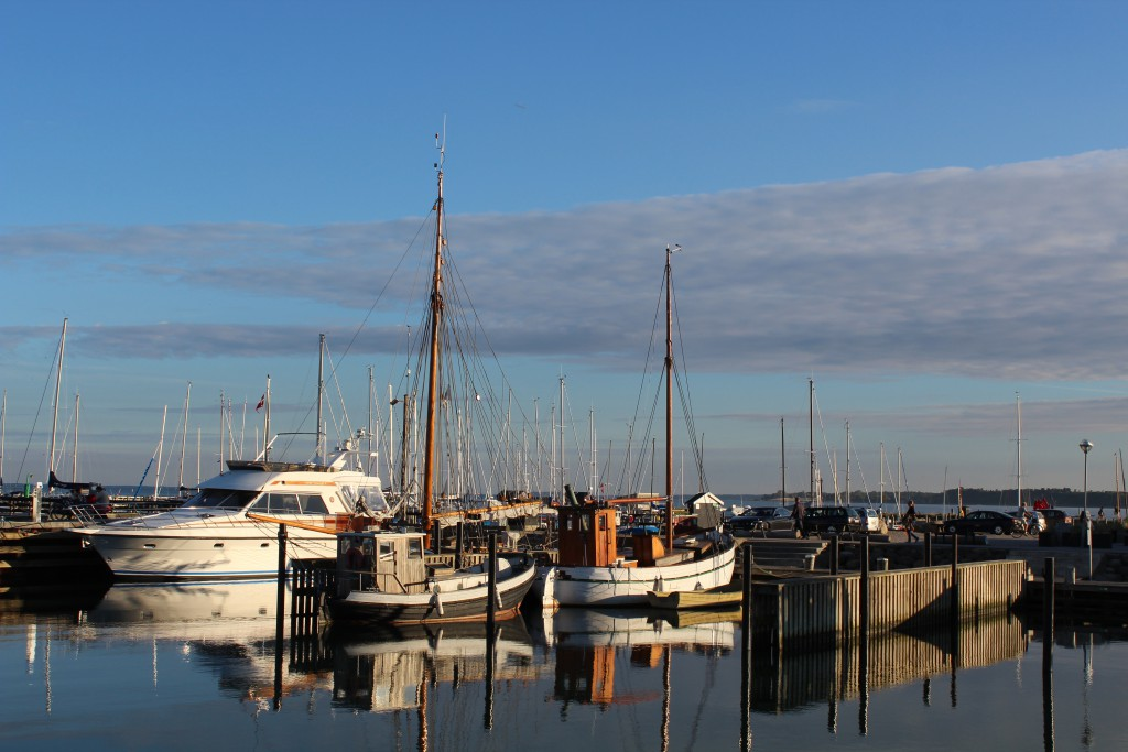 """"""" fisching boats in Rørvig Harbour. Phoot in direction south/west 17. august 2016 by Erik K Abeaha"""