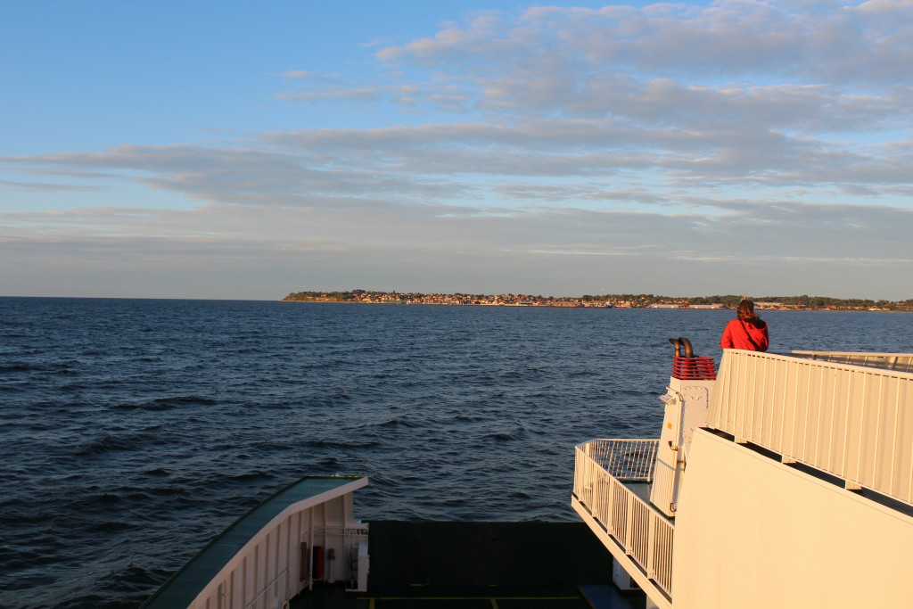 """View from ferry """"ISEFJORD"""" in direction east to Hundested. Photo 17. august 2016 by Erik K Abrahamsen"""